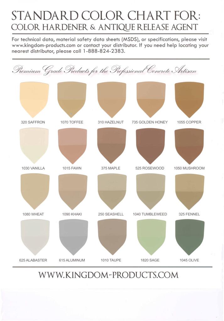 Colored Concrete Charts Vestal Binghamton Owego Cortland Ny